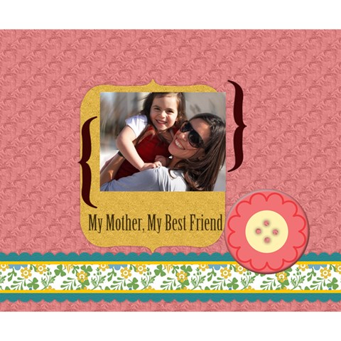 Mothers Day By Mom   Deluxe Canvas 14  X 11  (stretched)   20mnzb5oedfk   Www Artscow Com 14  x 11  x 1.5  Stretched Canvas
