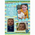 Thank you Ethan - 5  x 7  Photo Cards
