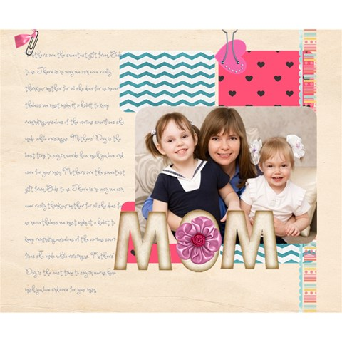 Mothers Day By Mom   Deluxe Canvas 14  X 11  (stretched)   7n7g0vls2mim   Www Artscow Com 14  x 11  x 1.5  Stretched Canvas
