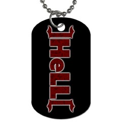 Helldogtag By Nomy   Dog Tag (two Sides)   Yvptk7u09j57   Www Artscow Com Front