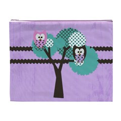 Owl Cosmetic Case Xl By Chelsea Grindstaff   Cosmetic Bag (xl)   Eug48bf01yrd   Www Artscow Com Front