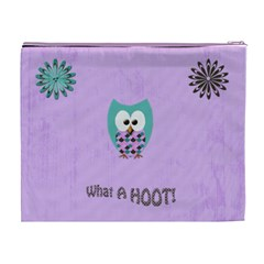 Owl Cosmetic Case Xl By Chelsea Grindstaff   Cosmetic Bag (xl)   Eug48bf01yrd   Www Artscow Com Back