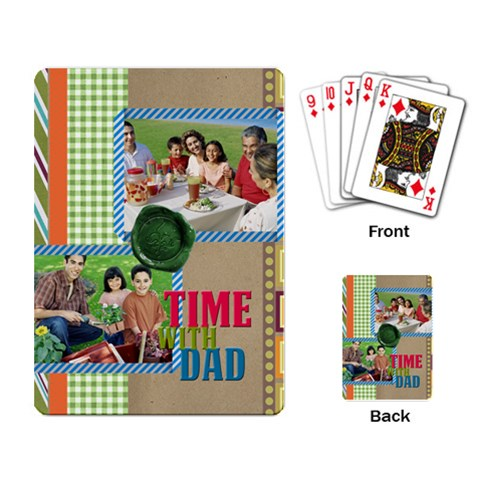 Fathers Day By Dad   Playing Cards Single Design   709zm5nr8s4o   Www Artscow Com Back