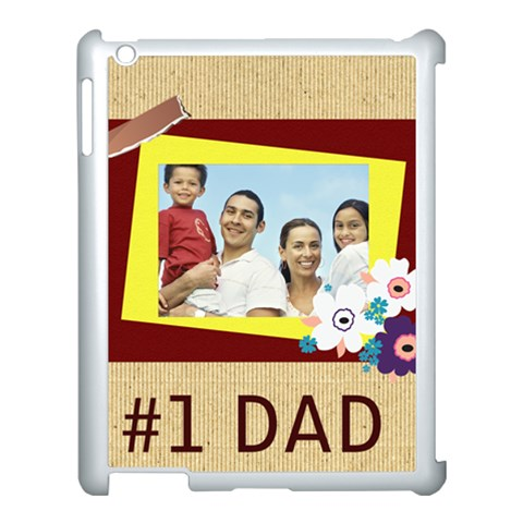 Fathers Day By Dad   Apple Ipad 3/4 Case (white)   Ncwnzrzghsw3   Www Artscow Com Front