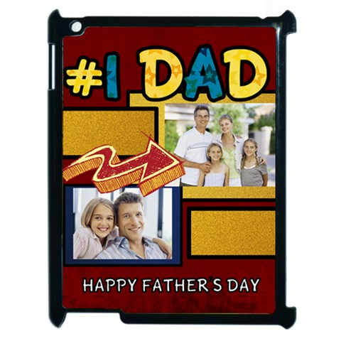Fathers Day By Dad   Apple Ipad 2 Case (black)   Iqne3dn85hg2   Www Artscow Com Front