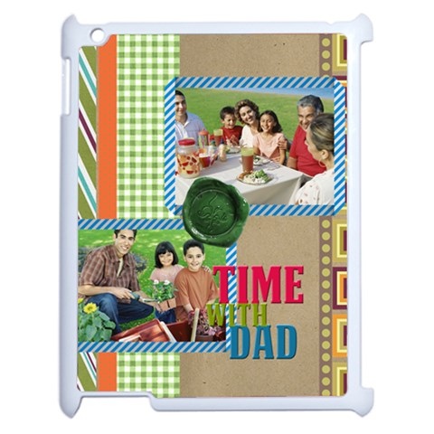 Fathers Day By Dad   Apple Ipad 2 Case (white)   Jlwrfr4dmig2   Www Artscow Com Front