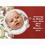 Red Birth announcement - 5  x 7  Photo Cards