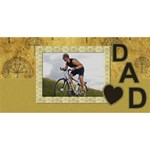 Love Dad 3D Card - #1 DAD 3D Greeting Card (8x4)