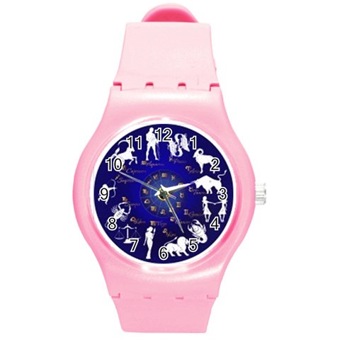 Horoscope, Star By Divad Brown   Round Plastic Sport Watch (m)   C6460xsbbx5h   Www Artscow Com Front
