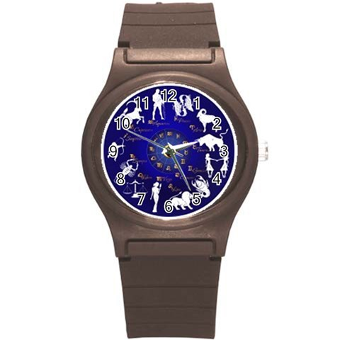 Horoscope, Star By Divad Brown   Round Plastic Sport Watch (s)   9mz9p5wjsijj   Www Artscow Com Front