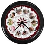 My Family Clock - Wall Clock (Black)