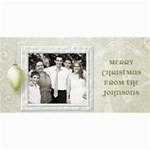 Snow Ornament Christmas - 4  x 8  Photo Cards