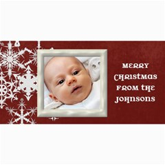Christmascard Red Snowflake By Marcee Duggar   4  X 8  Photo Cards   Z2sc80yx7l9v   Www Artscow Com 8 x4 Photo Card - 8