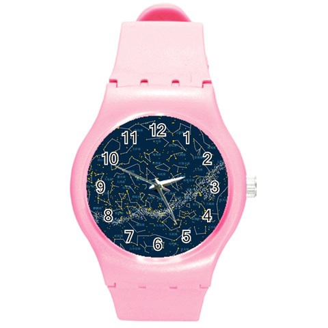 Horoscope, Star By Divad Brown   Round Plastic Sport Watch (m)   Ok8mtmw8y5oa   Www Artscow Com Front