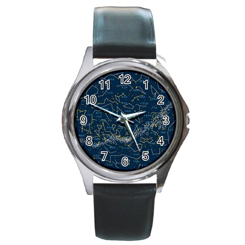Horoscope By Divad Brown   Round Metal Watch   Djv345jma1ib   Www Artscow Com Front