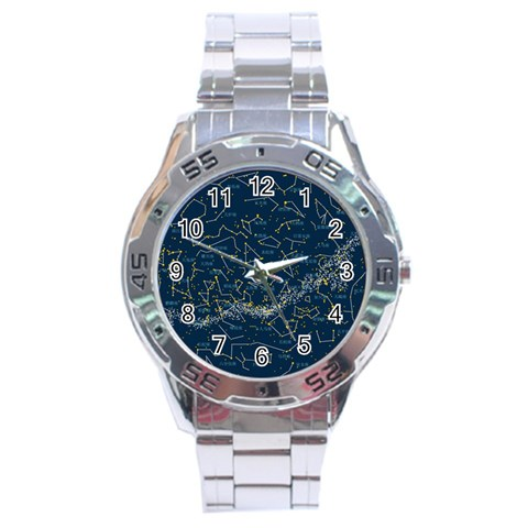 Horoscope By Divad Brown   Stainless Steel Analogue Watch   Gyj0ufxbyjrh   Www Artscow Com Front