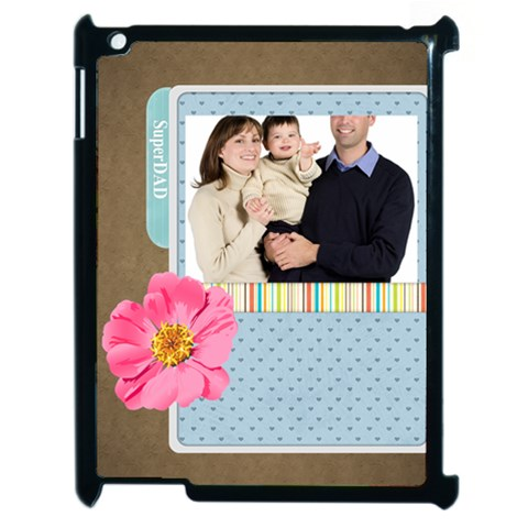 Fathers Day By Dad   Apple Ipad 2 Case (black)   518pio1jc4mk   Www Artscow Com Front