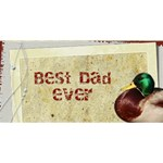 Best Dad 3d Card - #1 DAD 3D Greeting Card (8x4)
