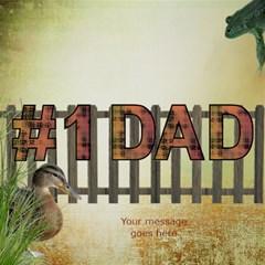Best Dad 3d Card By Deborah   #1 Dad 3d Greeting Card (8x4)   A8agypubuojq   Www Artscow Com Inside