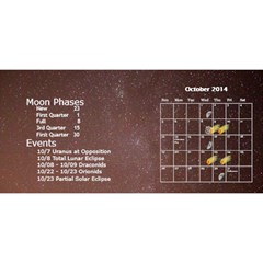 2014 Astronomical Events Desktop Calendar By Bg Boyd Photography (bgphoto)   Desktop Calendar 11  X 5    U36r54gfpca8   Www Artscow Com Oct 2014