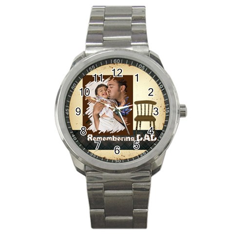 Father By Dad   Sport Metal Watch   0bof4evujryd   Www Artscow Com Front