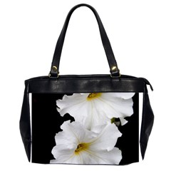 White Peonies   Twin Sided Oversized Handbag by Elanga