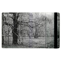 Black And White Forest Apple Ipad 3/4 Flip Case by Elanga