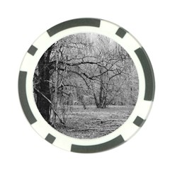 Black And White Forest Poker Chip by Elanga