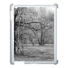 Black And White Forest Apple Ipad 3/4 Case (white) by Elanga