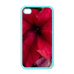 Red Peonies Apple Iphone 4 Case (color) by Elanga