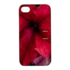 Red Peonies Apple Iphone 4/4s Hardshell Case With Stand by Elanga