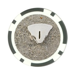Quarter Of A Sand Dollar 10 Pack Poker Chip by Elanga