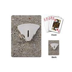 Quarter Of A Sand Dollar Playing Cards (mini) by Elanga
