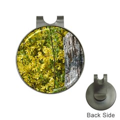 Yellow Bells Hat Clip With Golf Ball Marker by Elanga