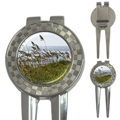 Cocoa Beach, Fl Golf Pitchfork & Ball Marker by Elanga