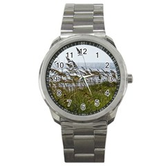 Cocoa Beach, Fl Stainless Steel Sports Watch (Round)