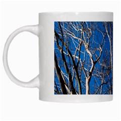 Trees On Blue Sky White Coffee Mug