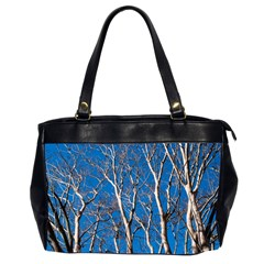 Trees On Blue Sky Twin Sided Oversized Handbag by Elanga