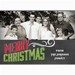 Chalkboard Merry Christmas Family - 5  x 7  Photo Cards