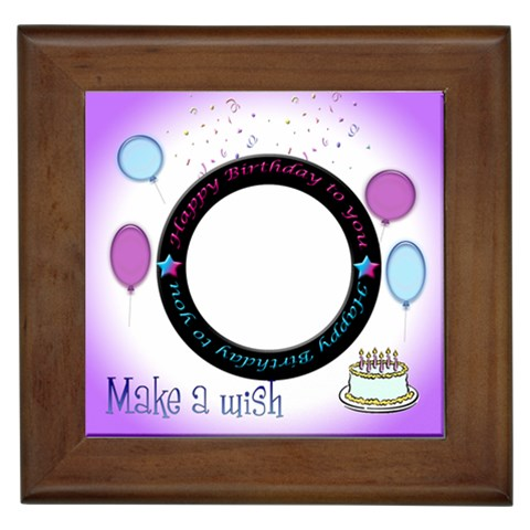 Birthday Tile By Angeye   Framed Tile   Tg7lgh192zyz   Www Artscow Com Front