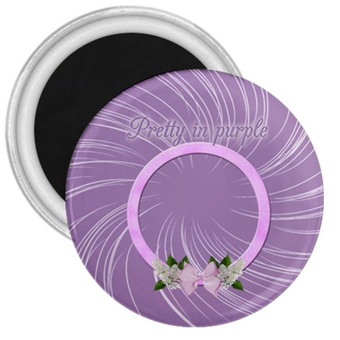 Purple Magnet By Angeye   3  Magnet   Pzxq44wsqfui   Www Artscow Com Front