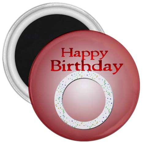 Birthday Magnet By Angeye   3  Magnet   Fj1yr67ty1xp   Www Artscow Com Front