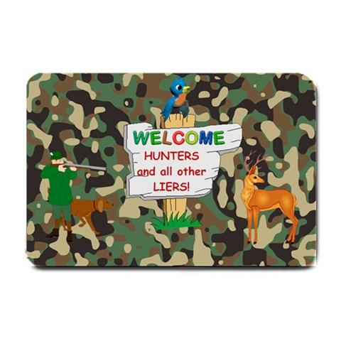 Hunter s Small Doormat By Joy Johns   Small Doormat   7x4p7lq4doge   Www Artscow Com 24 x16 Door Mat - 1