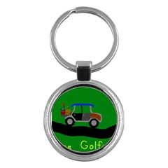 Gone Golfin Key Chain (Round) by golforever12
