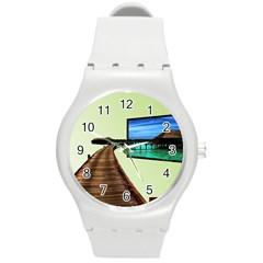 Sony Tv Round Plastic Sport Watch Medium by anasuya