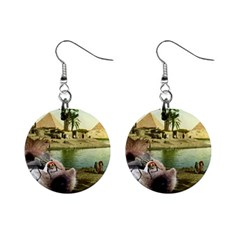 Aussie Fly Tourist In Egypt 1  Button Earrings by MissTerryWoman