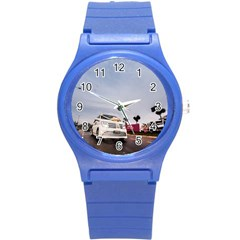 Wedding Car Round Plastic Sport Watch Small by Unique1Stop