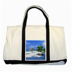 Beach Two Toned Tote Bag