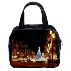 Christmas Deco Twin Sided Satchel Handbag