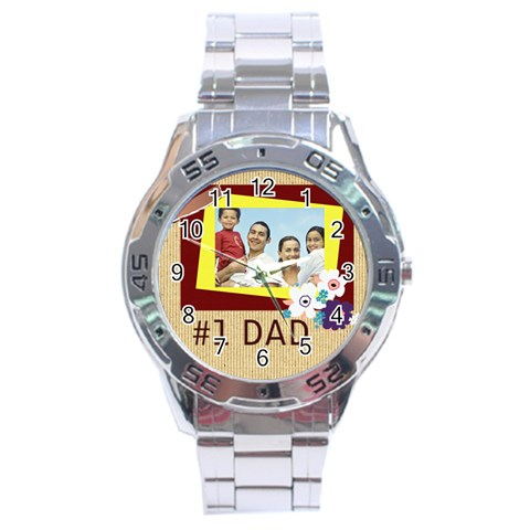 Fathers Day By Dad   Stainless Steel Analogue Watch   7uglfrwqeqaa   Www Artscow Com Front